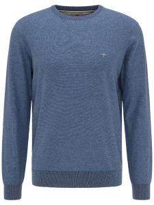 O NECK PLATED LONG SLEEVE JUMPER