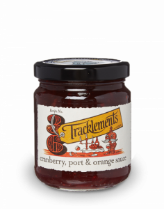 TRACKLEMENTS CRANBERRY PORT AND ORANGE SAUCE