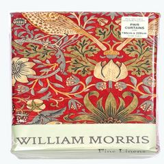 William Morris Strawberry Thief Lined Curtains