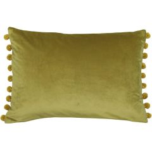 Riva Home Fiesta Bamboo/Gold Pom Pom Cushion