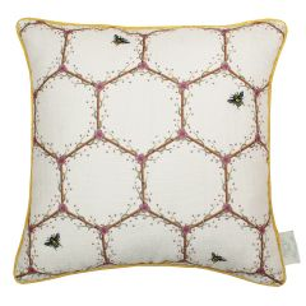 The Chateau by Angel Strawbridge Honeycomb Cream Complete Cushion