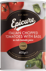 Epicure Italian Chopped Tomatoes with Basil 400g