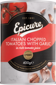 Epicure Italian Chopped Tomatoes with Garlic