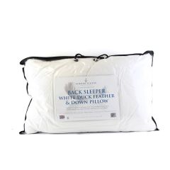 Norfolk Feather Back Sleeper White Duck Feather & Down Pillow