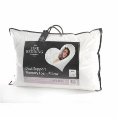 The Fine Bedding Co Dual Support Memory Foam and Microfibre Pillow