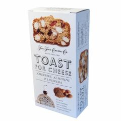 TOAST FOR CHEESE CHERRIES ALMONDS LINSEED