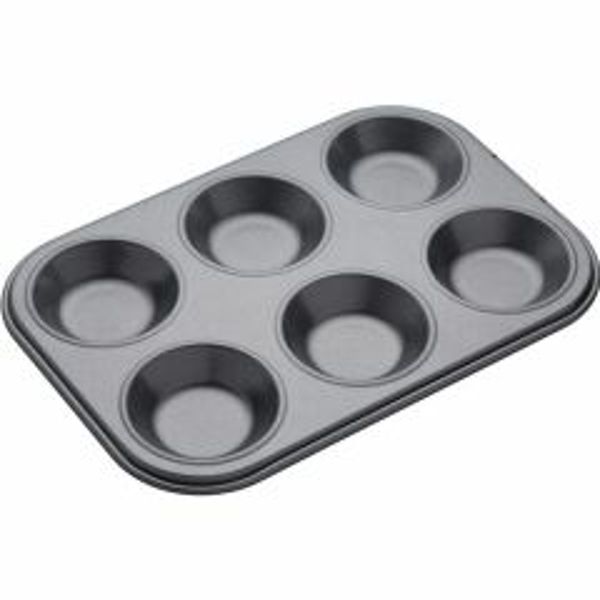 6 HOLE SHALLOW BAKING PAN 24X16CM