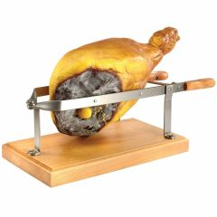 HAM SLICING STAND S/STEEL WITH WOOD