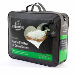 The Fine Bedding Co Goose Feather and Down Duvet 10.5 Tog