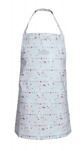 OILCLOTH CHILD APRON WOODLAND PARTY