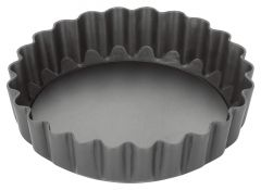Stellar Hard Anodised 3 Inch Fluted Flan Tin with Loose Base