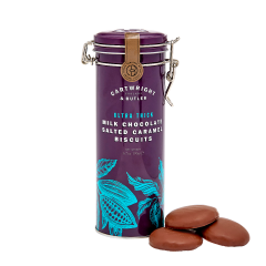 C&B ULTRA THICK MILK CHOCOLATE SALTED CARAMEL BISCUITS