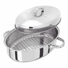 JUDGE 32cm HIGH OVAL ROASTER WITH BASE D/P £55.00/£42.95