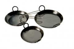 S/3 SKILLETS PLUS HANDLE