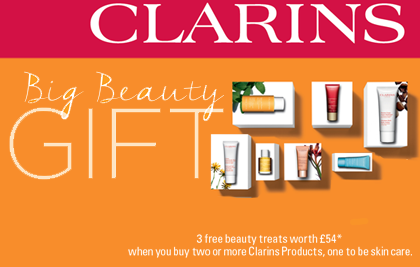Clarins free gift with purchase