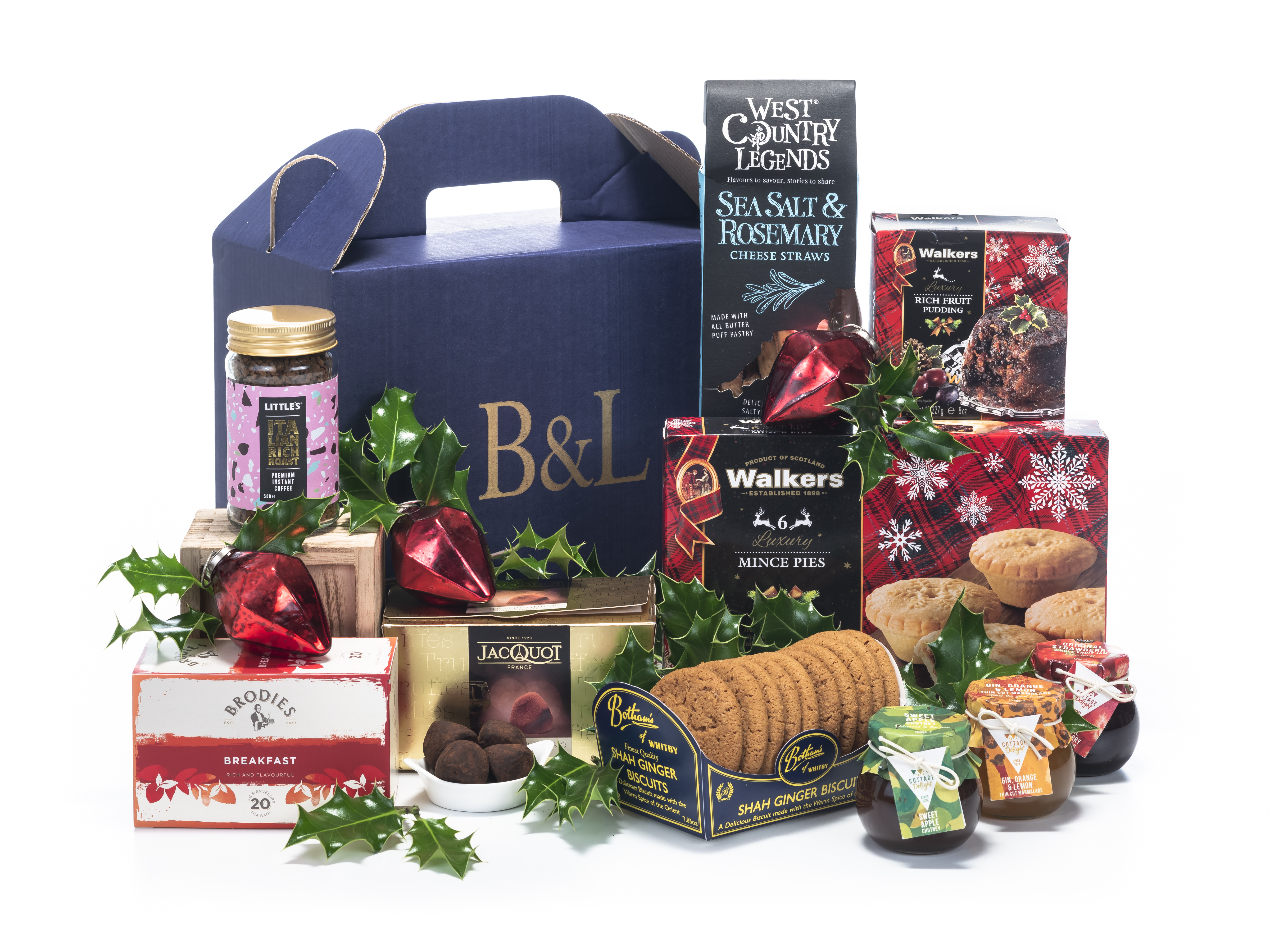 Snow Fall Splendour Christmas Hamper from Bakers and Larners
